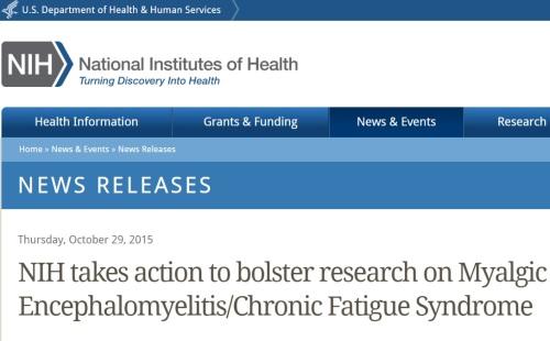 NIH pressemelding 29 oktober 2015